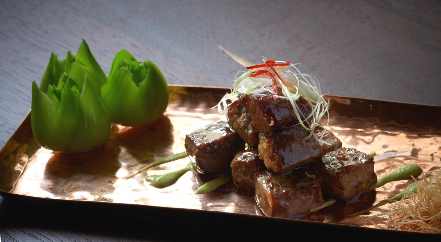 fried beef cube